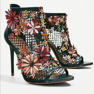 Limited Edition Green Booties w/Flower details